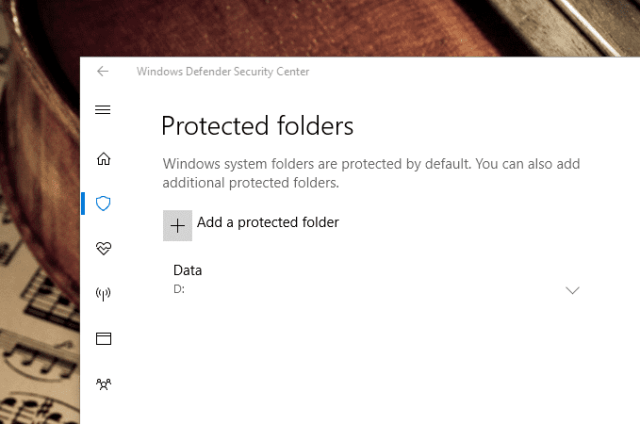 Windows Defender Controlled folder access protected folders - Windows 10 New Feature: How To Enable Ransomware Protection