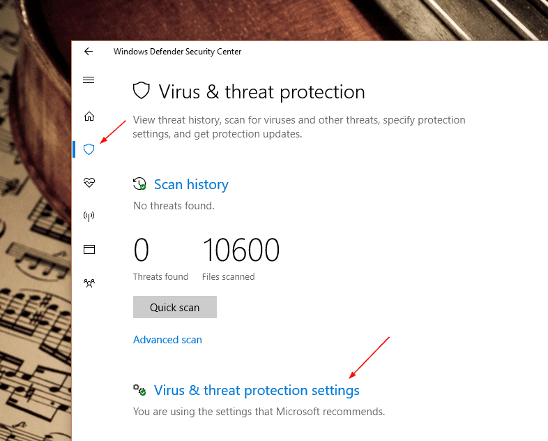 Windows Defender Virus threat protection settings - Windows 10 New Feature: How To Enable Ransomware Protection
