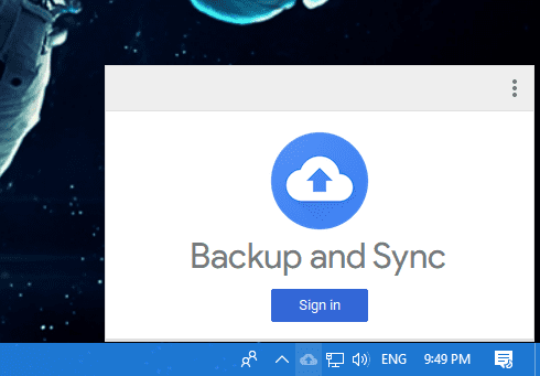 Backup and Restore sign in - Google Backup and Sync Released for Both Windows and Mac