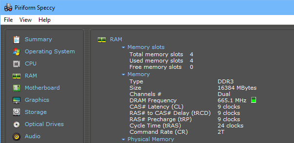 Piriform Speccy RAM detail - Speccy - A Free Portable System Information Tool for Windows