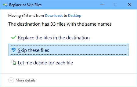 Replace or Skip Files 2017 07 30 22 12 56 - Windows Tip: How To Copy Files without Overwriting Them in Command Line