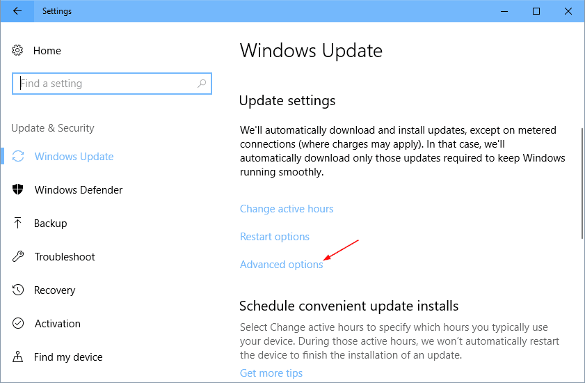 Settings Update Security advanced options - Windows 10 New Feature: Limit Bandwidth for Windows Update
