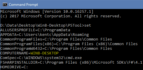 Command Prompt - Set