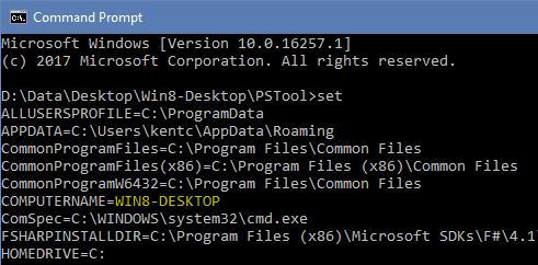 Command Prompt - Set