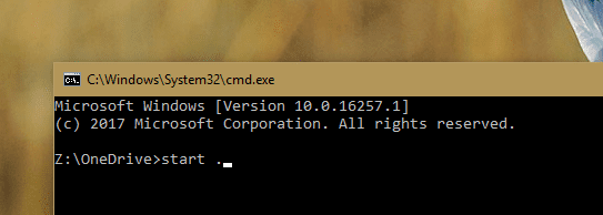 Command Prompt start . - Windows Tip: Switching Between File Explorer and Command Prompt from the Current Folder