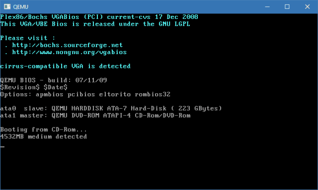 QEMU 2017 08 21 22 13 19 - How To Check If A ISO File or USB Flash Drive is Bootable in Windows 10