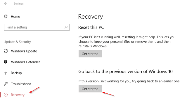 Settings update recovery get started - You can Try Windows 10 S on All Windows 10 PCs