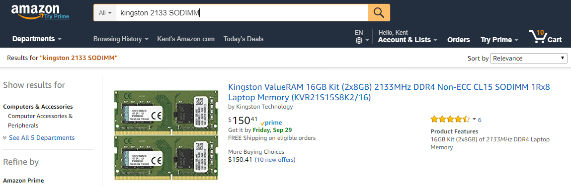 Amazon.com  kingston 2133 SODIMM 2017 09 27 23 33 03 - How To Easily Tell Which Type of Memory Stick for My Windows Computer