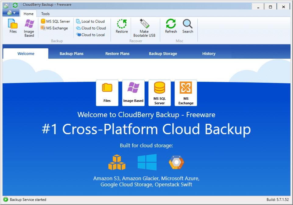 CloudBerry Backup Free - Backs Up Windows Files to the Cloud