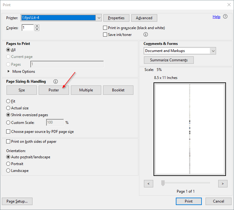 Adobe Print Poster - Adobe PDF Tip: How To Print Large Posters Across Multiple Pages