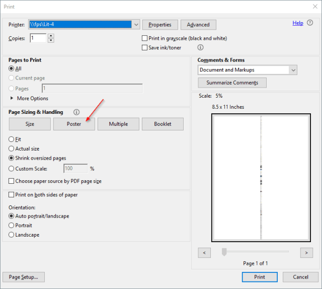 adobe pdf tip how to print large posters across multiple pages
