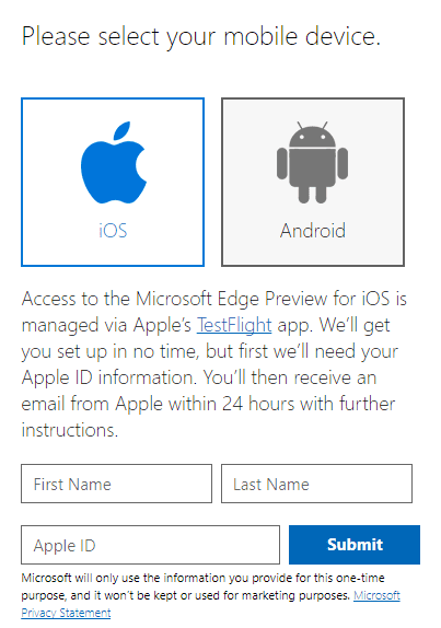 Microsoft Edge Preview on iOS Android – Now Available 2017 10 14 22 40 49 - How To Start Testing Microsoft Edge Preview on iOS