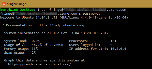 SSH from Windows Subsystem Ubuntu