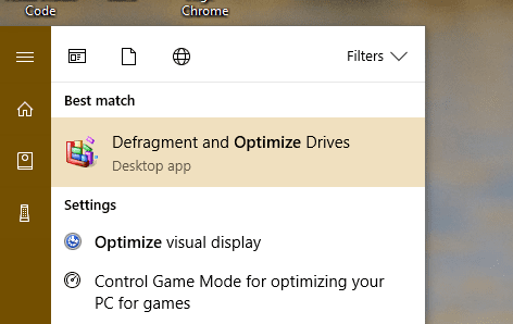 Start menu Optimize Drives - How To Tell If It is the SSD Drive that Runs my Windows 10