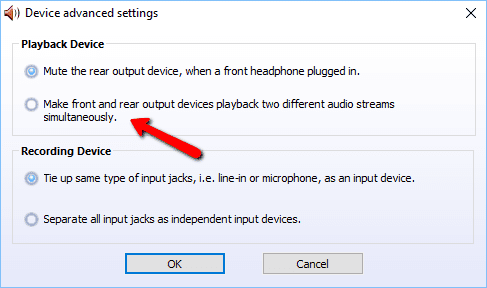 Realtek Switch Audio Output Between Back vs Front Panel On Desktop