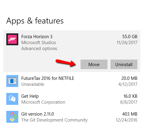 2017 11 26 1530 - How To Move Microsoft Store Games To A Different Partition