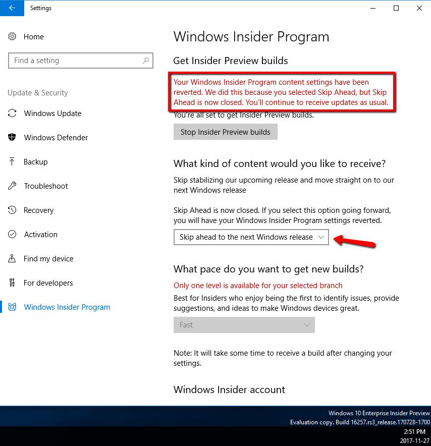 windows insider program opt in