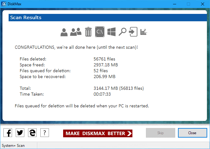 DiskMax Scan Result - DiskMax is A Complete Disk Clean Application for Windows