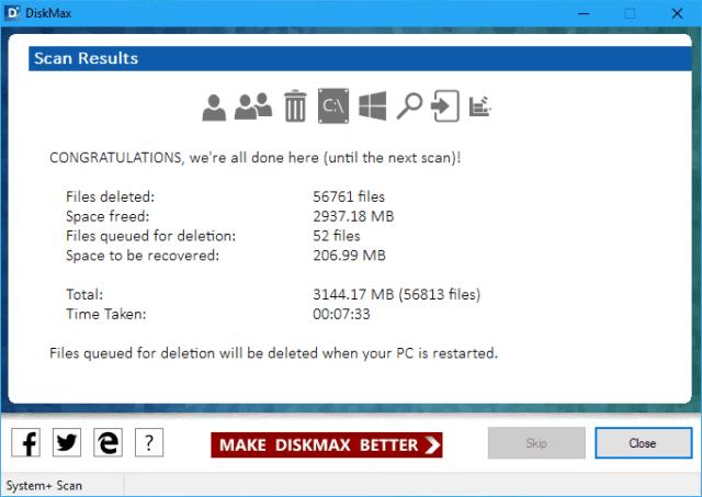 DiskMax - Scan Result