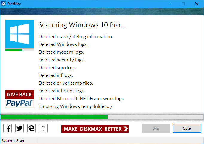 DiskMax in the process - DiskMax is A Complete Disk Clean Application for Windows