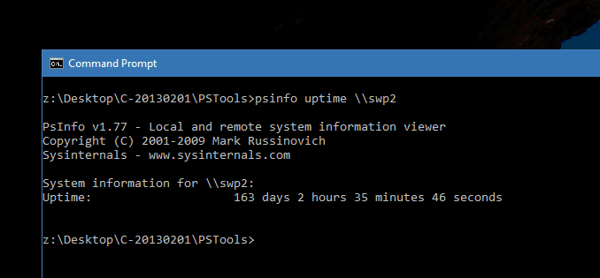 3 Ways to Find Out the Uptime from A Remote Windows Computer - Next