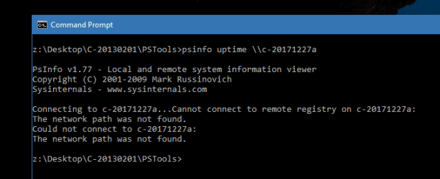 Command Prompt - PSInfo error