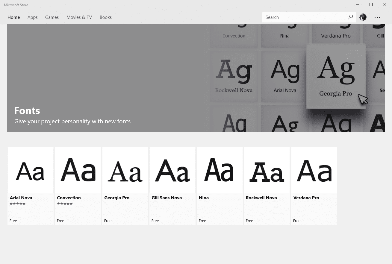 Microsoft Store Fonts - A Walkthrough the New Fonts Setting Page in Windows 10