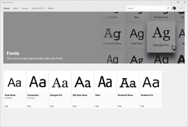 Microsoft Store - Fonts