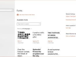 Settings - fonts