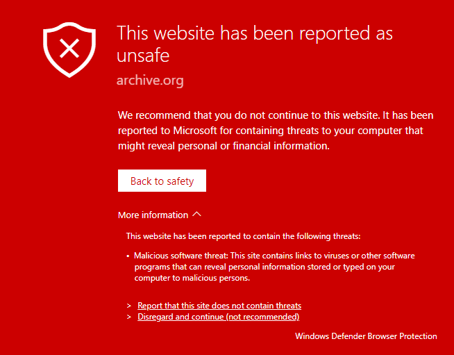 Reported Unsafe Website  Navigation Blocked 2018 04 21 23 48 26 - Windows Defender Browser Protection for Chrome