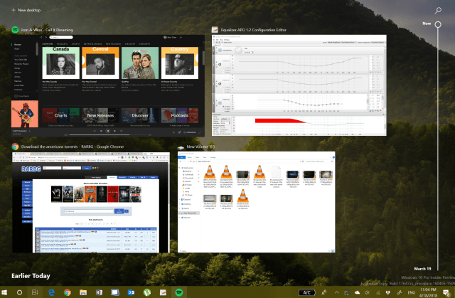 Task View with Timeline - How To Enable Disable and Use Timeline on Windows 10