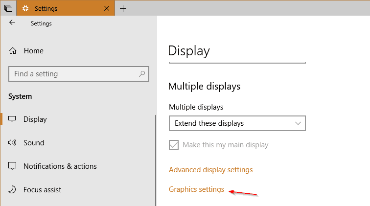 Settings System Display Graphic - Windows 10 Tip: How To Set GPU Preferences Per App