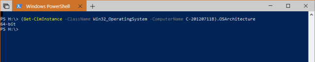 Windows PowerShell 2018 05 10 10 40 12 - How To Tell If A Remote PC has A x64-based or x86 Processor on Windows