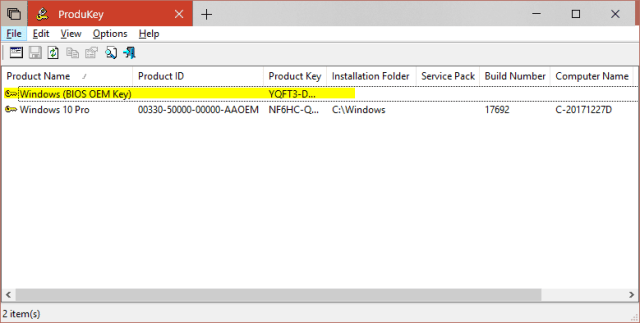 2018 06 28 11 36 42 ProduKey - How To Retrieve Windows 8 and 10 OEM Product Key From BIOS