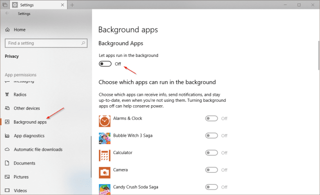 image 2 - Windows 10 Tip: How To Disable App from Running Background