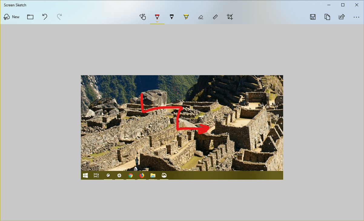 image 4 - How To Use Screen Sketch to Do A Screenshot on Windows 10