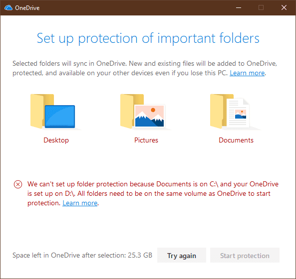 image 4 - Sync Desktop, My Documents and Pictures Folder through OneDrive