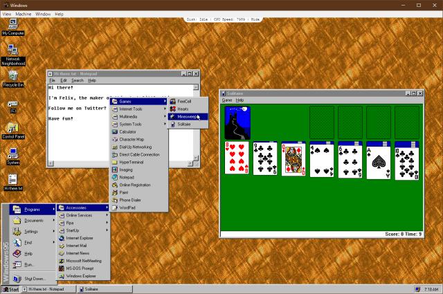 image 6 - Running Windows 95 inside Windows 10
