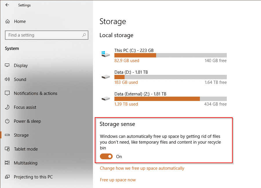 image 2 - Storage Sense to Deprecate Disk Cleanup Windows 10