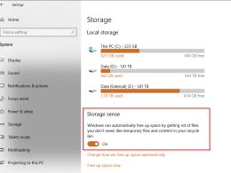 Storage Sense to Deprecate Disk Cleanup Windows 10