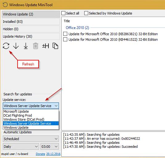 Useful Free Tool - Windows Update MiniTool - Next of Windows
