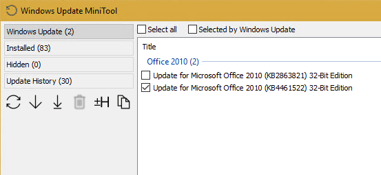 Useful Free Tool - Windows Update MiniTool - Next of Windows