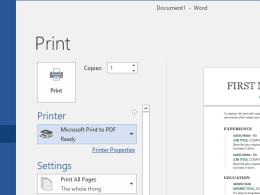 Windows 10 Tip: Turning On or Off Print to PDF Feature