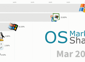 The Usage Share of Operating System 2004 – 2019