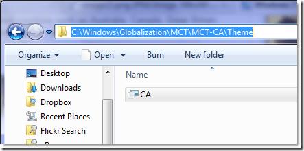 CA theme Windows 7