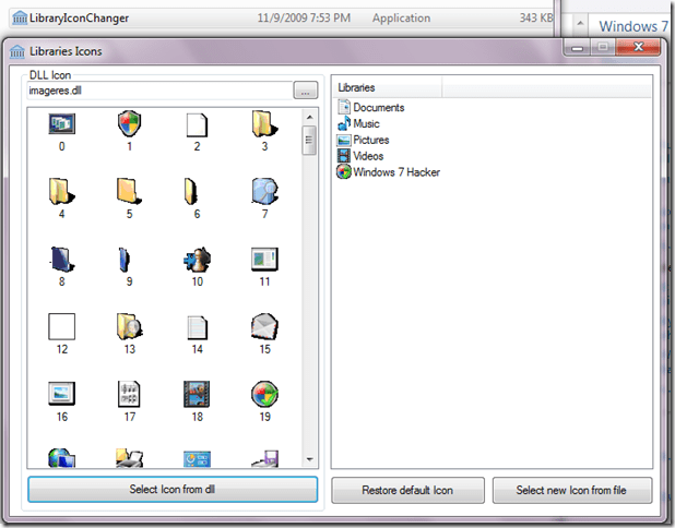 library icon changer - How to Change Default Library Icon in Windows 7