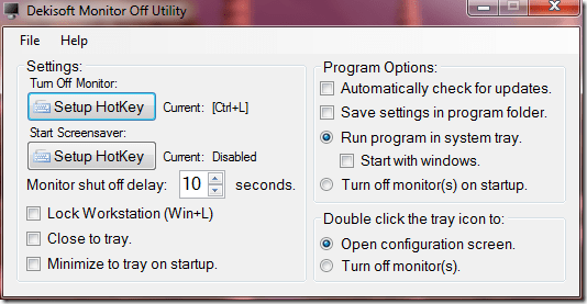 monitor off utility - Quickly Turn Off Monitor, Works on both Laptop and Desktop [Tips]