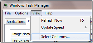 select columns - How to get More Info From Windows Task Manager to Diagnose Your System