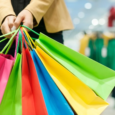shopping bags multi-colored