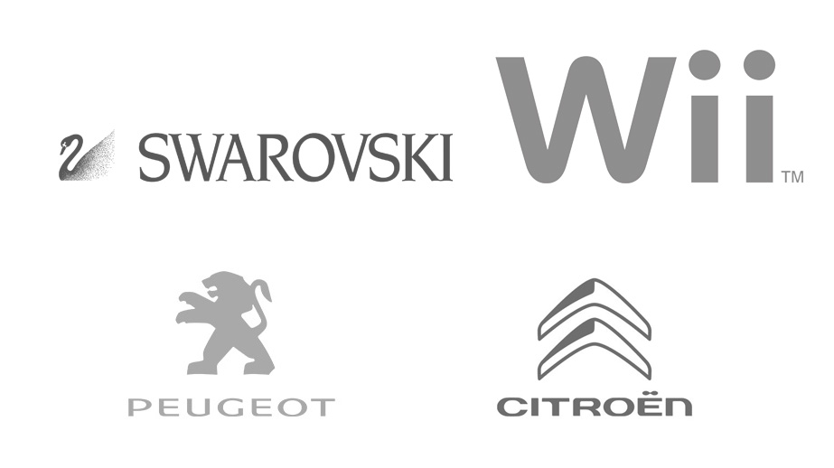 La gama de colores y su importancia logos en gris